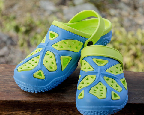 Kids Lightweight Clogs - Blue/Lime