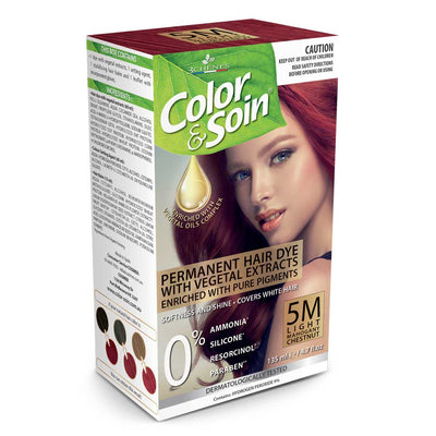 Color & Soin Permanent Hair Dye 5M - Light Mahogany Chestnut