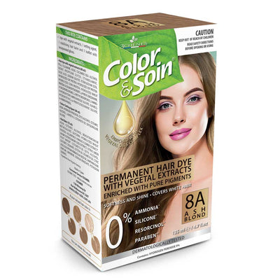 Color & Soin Permanent Hair Dye 8A - Ash Blond