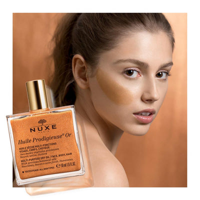 Huile Prodigieuse Gold Shimmer Dry Oil - French Beauty Co.