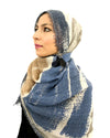 Model Posing in Signature Cotton Blue Mix Hijab
