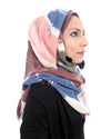 Model Posing in Signature Cotton Brown Mix Hijab