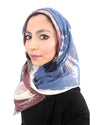 Model in Signature Cotton Brown Mix Hijab
