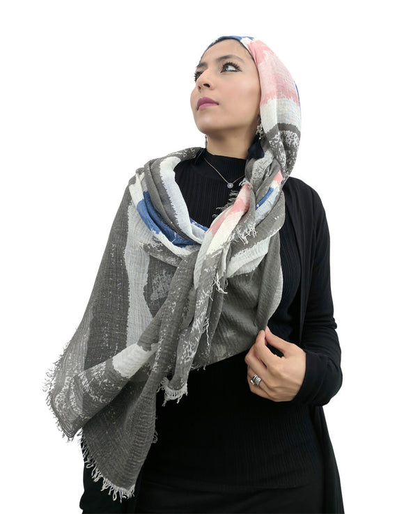 Signature Cotton Grey Mix Hijab