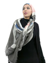 Model in Signature Cotton Grey Mix Hijab