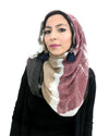 Model Posing in Signature Cotton Black Mix Hijab