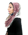 Signature Hijab in Black Mix Cotton