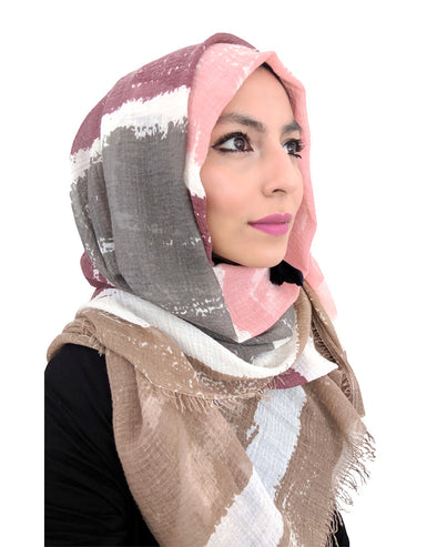 Signature Cotton Beige Mix Hijab