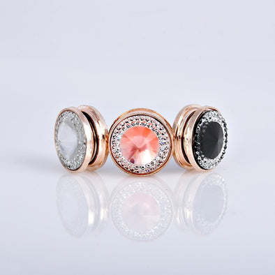 Luxury Crystal Magnetic Brooch