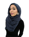 Cotton Crinkle Blue Hijab