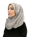 Cotton Crinkle Ice Grey Hijab