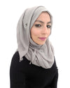 Ice Grey Coloured Cotton Crinkle Hijab