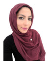 Magenta Coloured Cotton Crinkle Hijab
