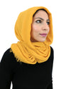 Mustard Coloured Cotton Crinkle Hijab