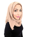 Cotton Crinkle Nude Hijab