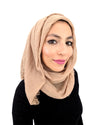 Cotton Crinkle Hijab in Nude