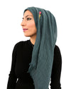 Model in Cotton Crinkle Hijab