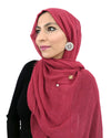Cotton Crinkle Hijab in Wine Red
