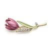 Tulip Flower Brooch for Scarf