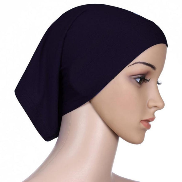 Tie Back Black Bonnet Cap