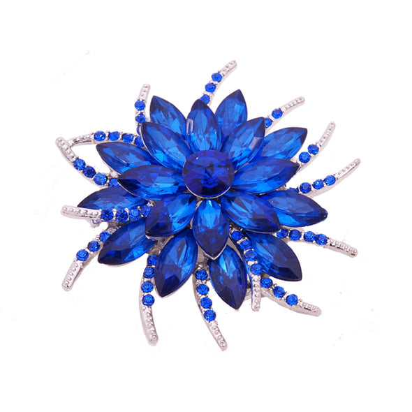 Austrian Crystal Blue Brooch