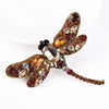 Luxury Brown Dragonfly Brooch