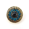 Retro Zirconia Blue Magnet Brooch