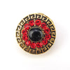 Retro Zirconia Red Magnet Brooch