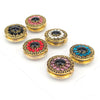 Retro Zirconia Magnet Brooch in Six Colours