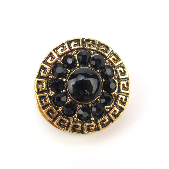 Retro Zirconia Black Magnet Brooch