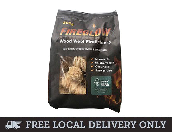 Fireglow Wood Wool Firelighters 300g