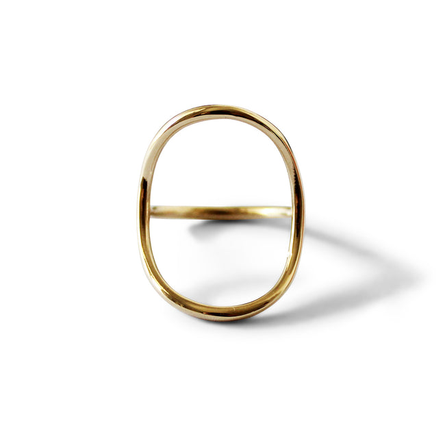 Arch Envelope Ring - Solid Gold