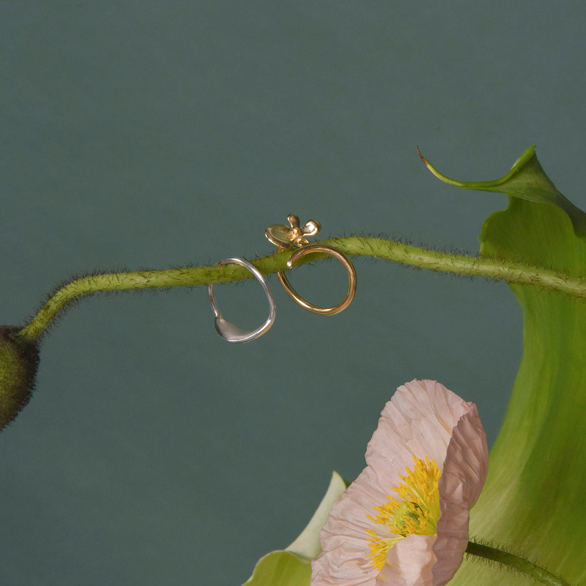 Dancing Orchid Ring - Solid Gold