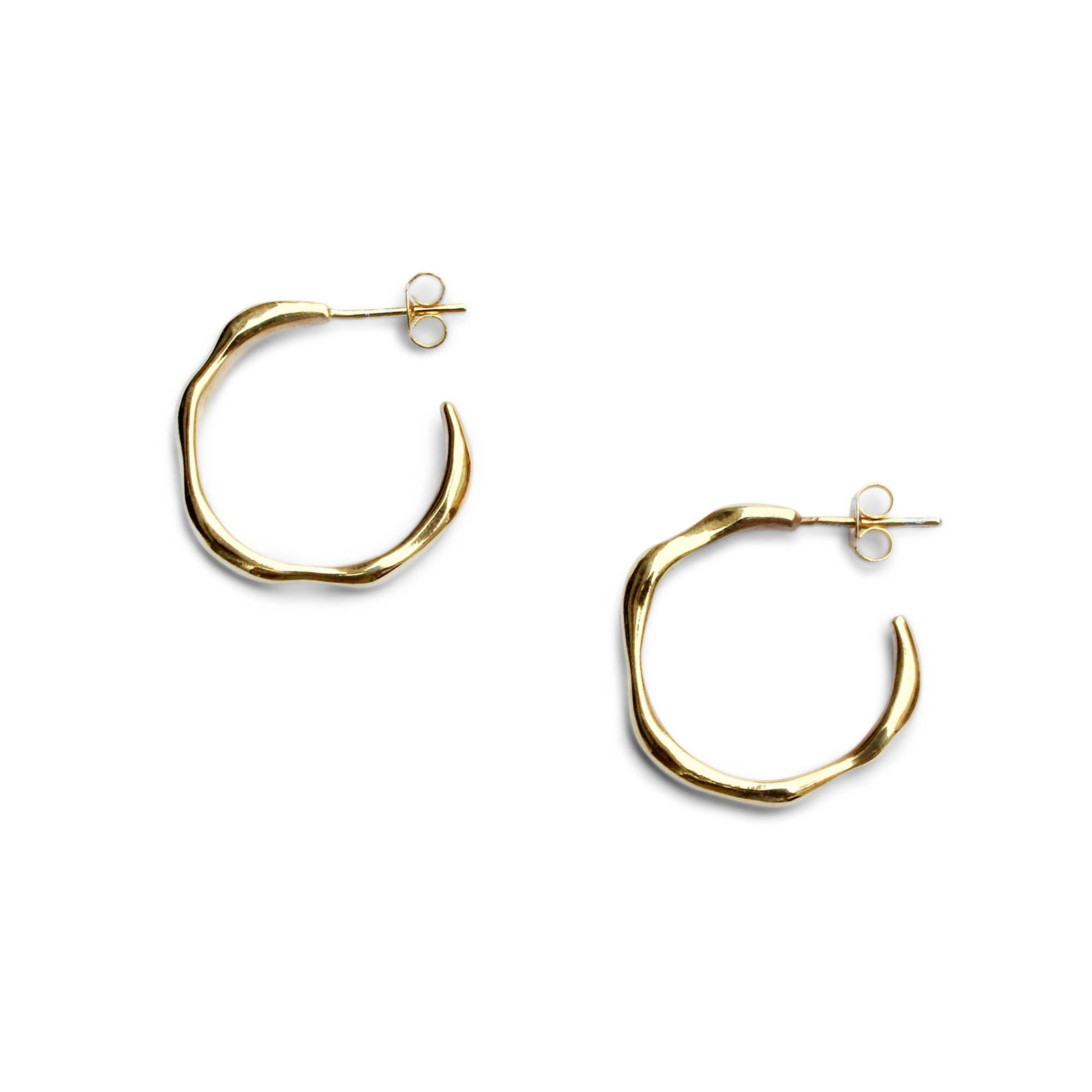Everyday Large Baroque Hoops - Solid Gold