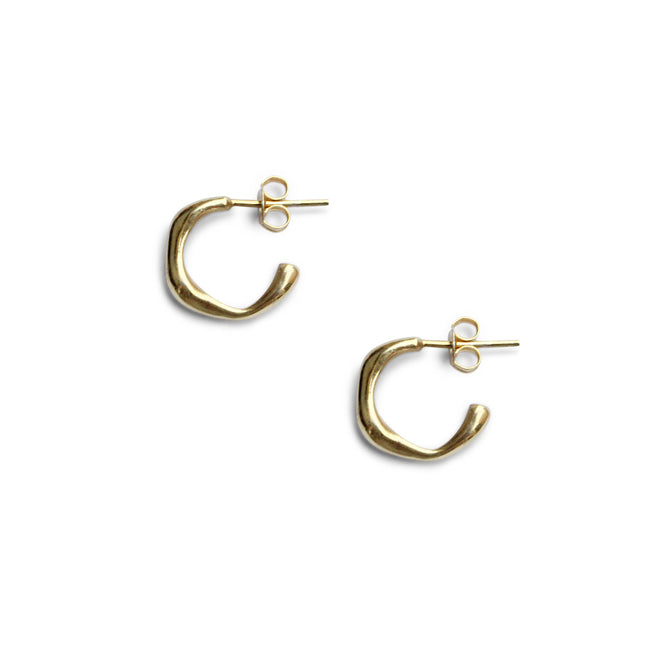 Everyday Small Baroque Hoops - Solid Gold
