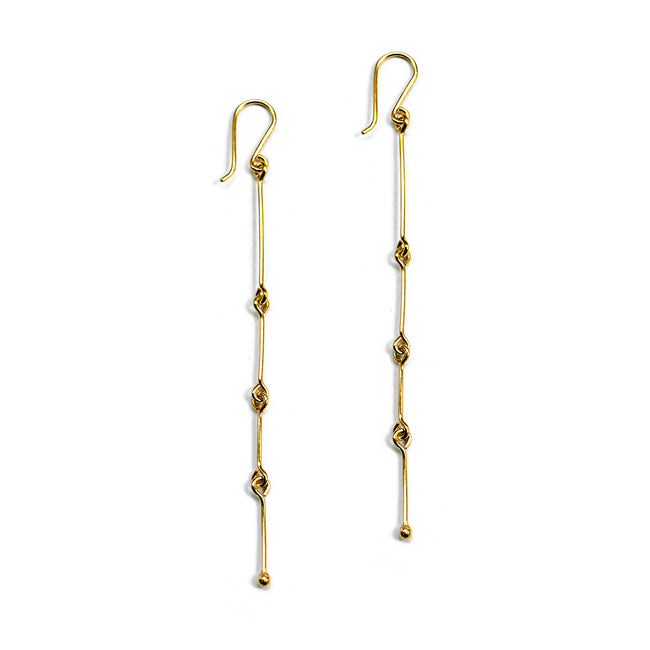 Fine Connection Earrings - Solid Gold