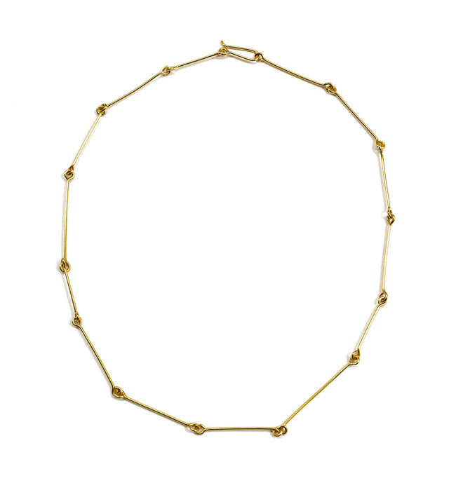 Fine Connection Choker - Solid Gold