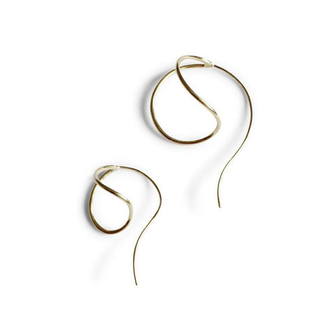 Serenity Stud Earrings - Solid Gold