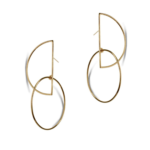 Pearl Ink Drop Earrings - Gold Vermeil