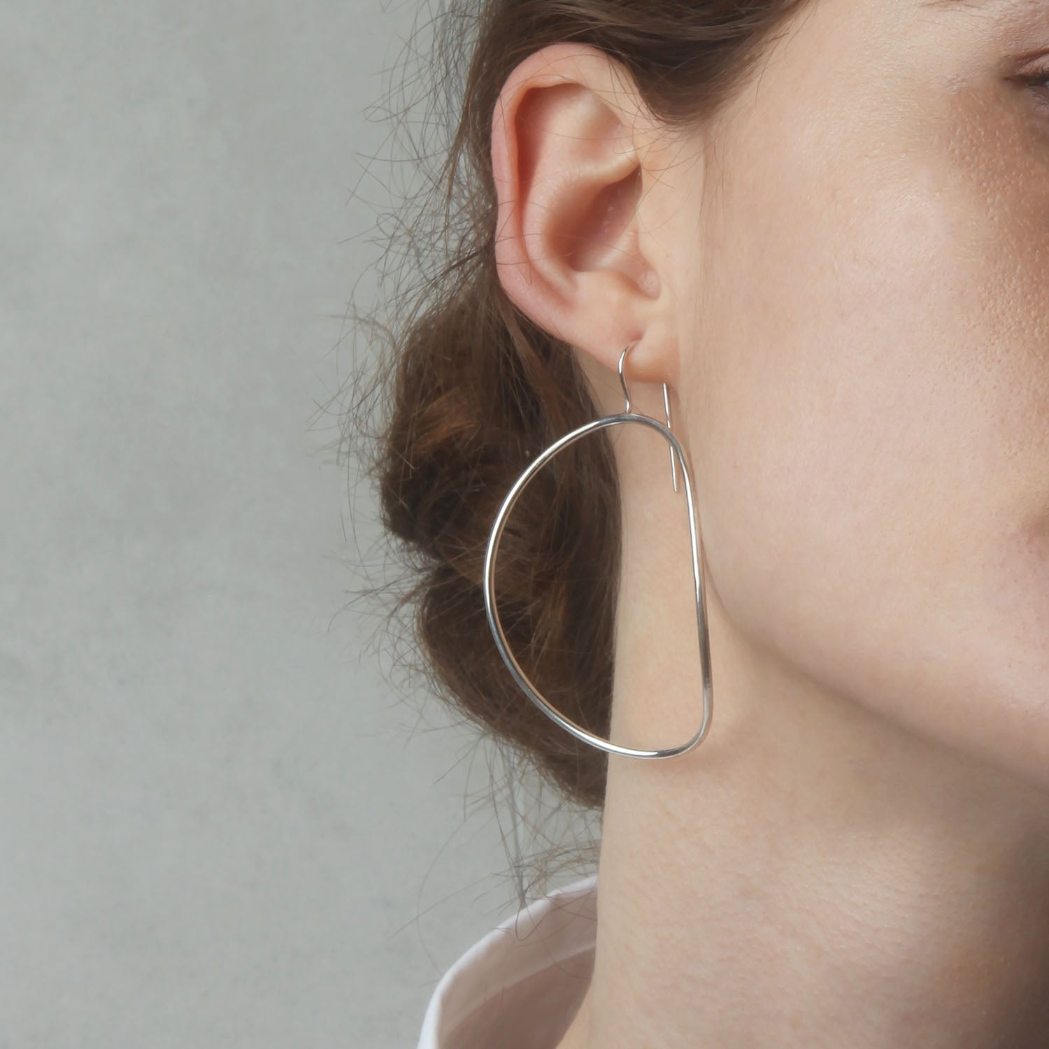 Large Arch Earrings - Solid Gold