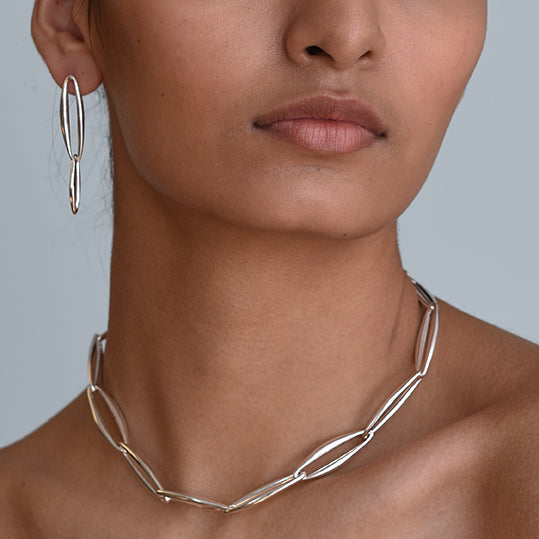 Lineage Chain Collar - Sterling Silver