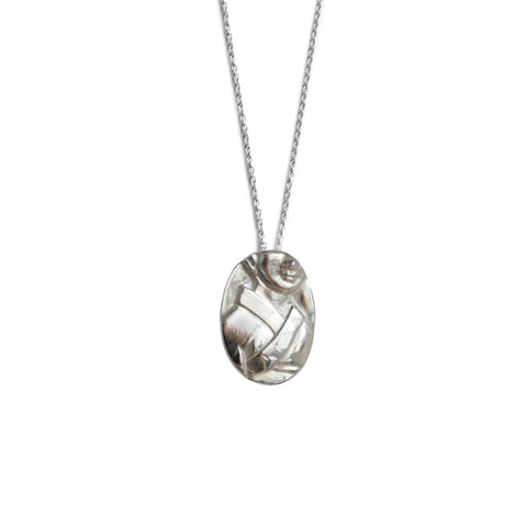 Ink Drop Charm Pendant - Sterling Silver