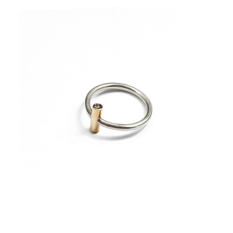 Only Ritual Ring - Sterling Silver, Solid Gold and Diamond