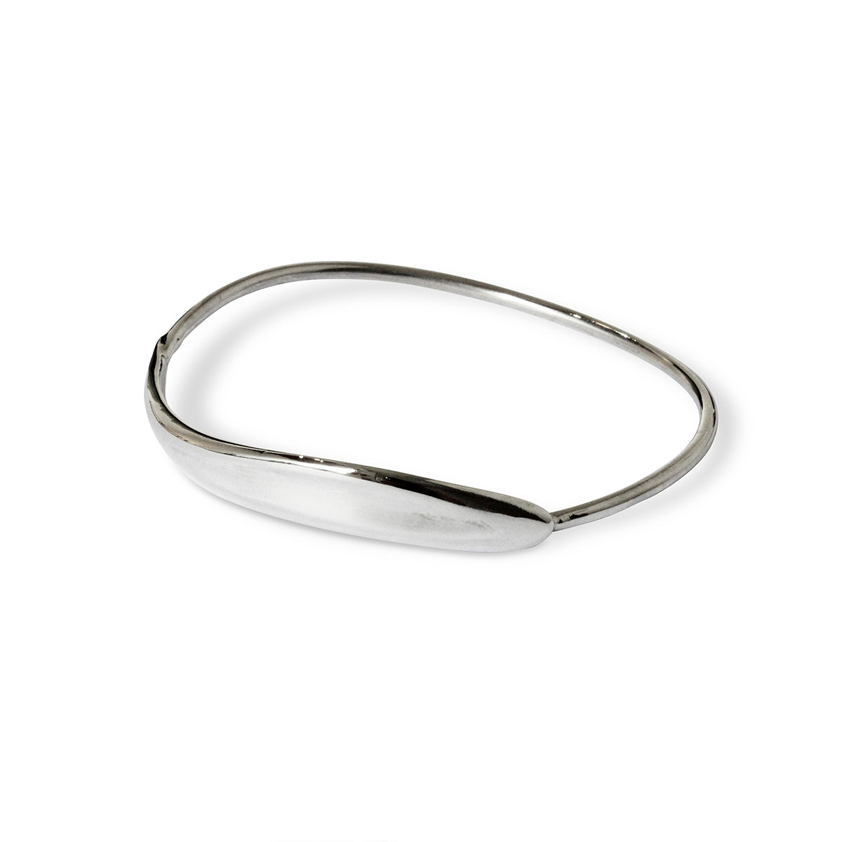 Serenity Bangle - Sterling Silver