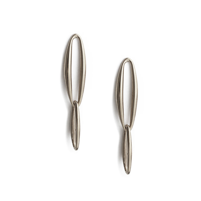 Lineage Chain Earrings - Sterling Silver