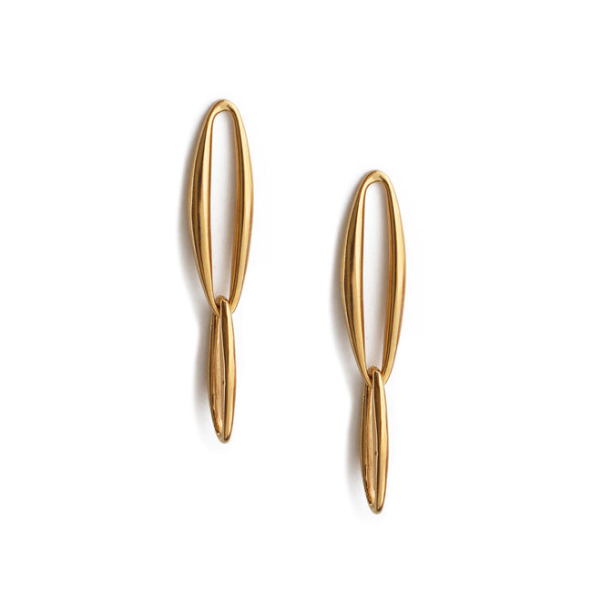 Lineage Chain Earrings - Gold Vermeil