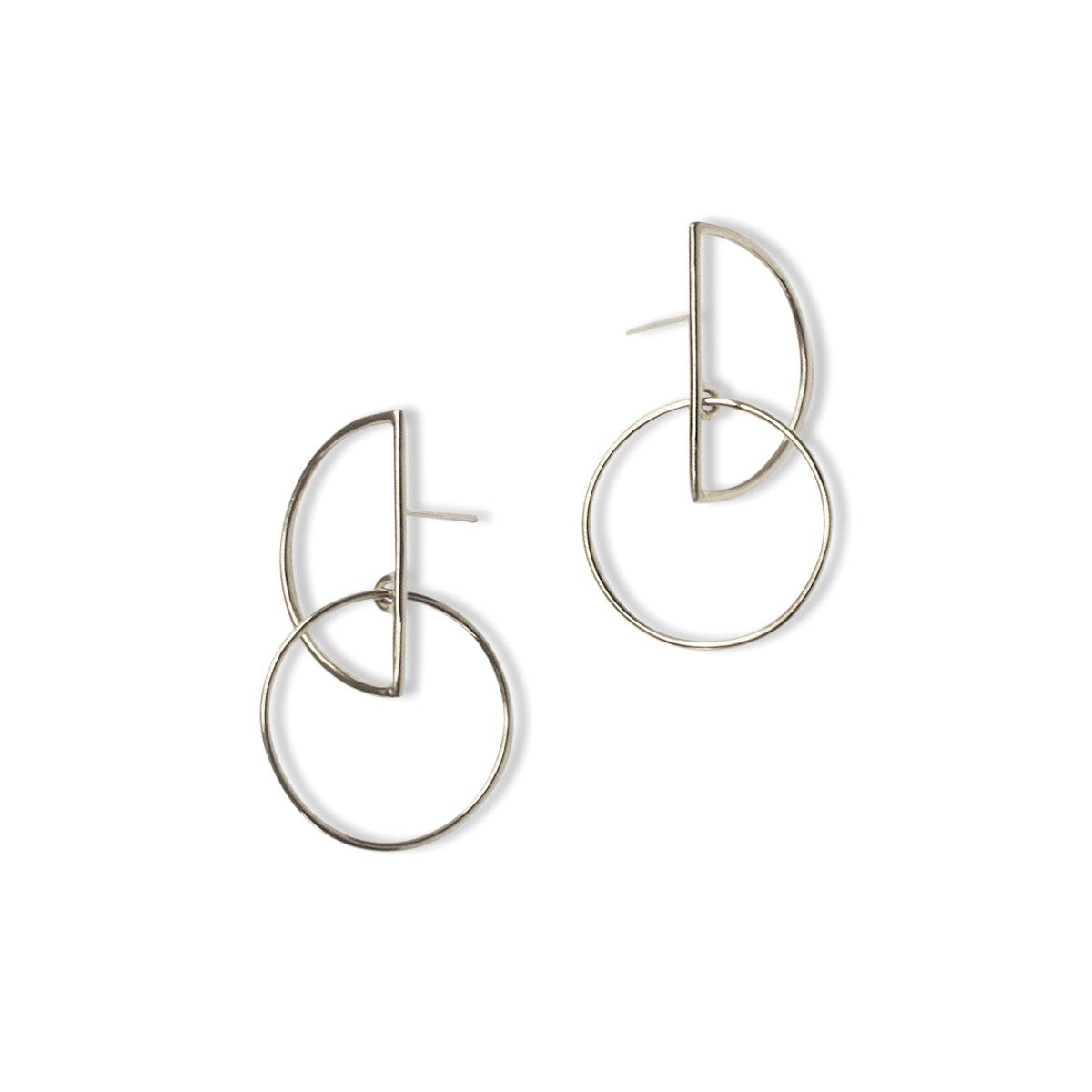 Small Half Moon Hoops - Sterling Silver