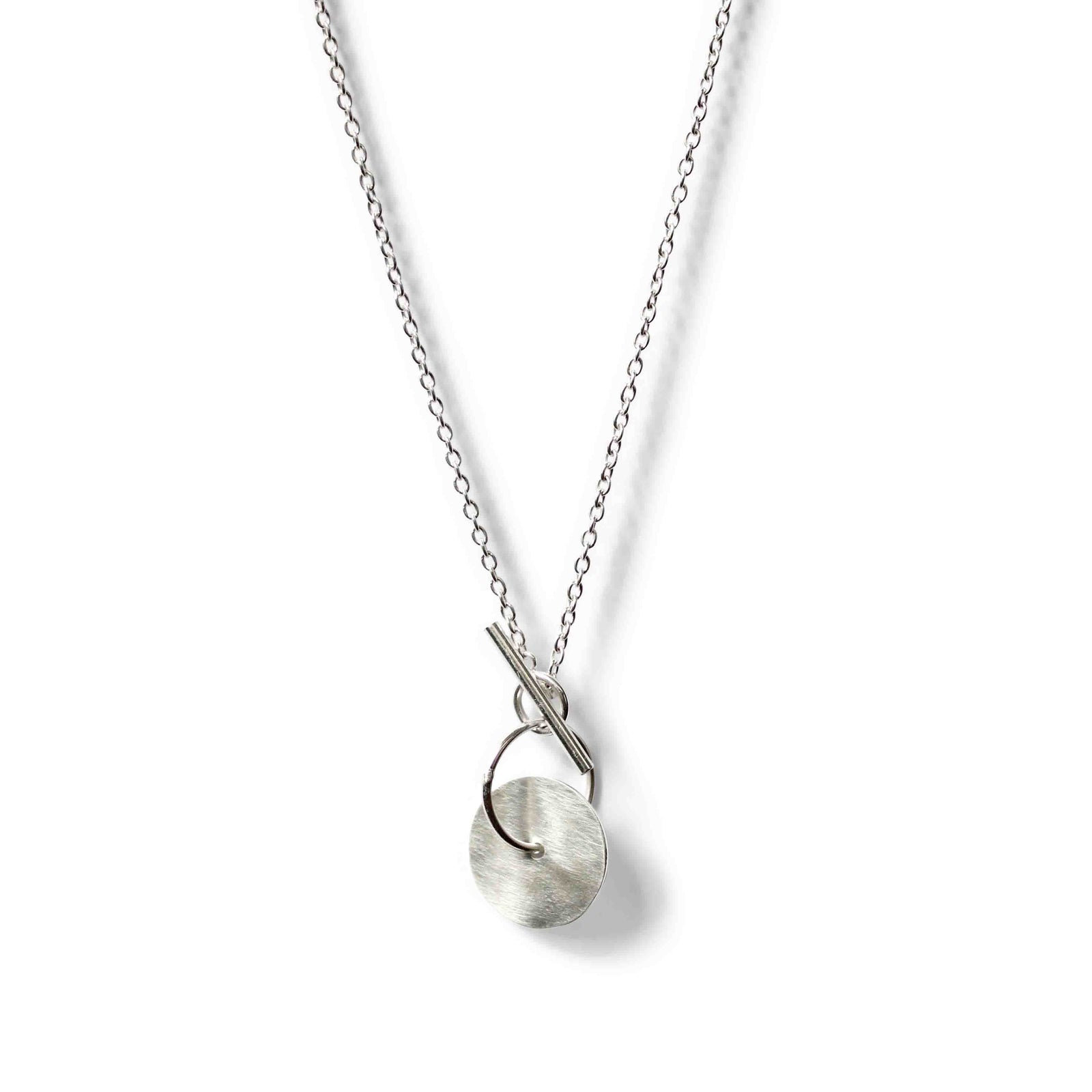 Small Moon Toggle Pendant - Sterling Silver