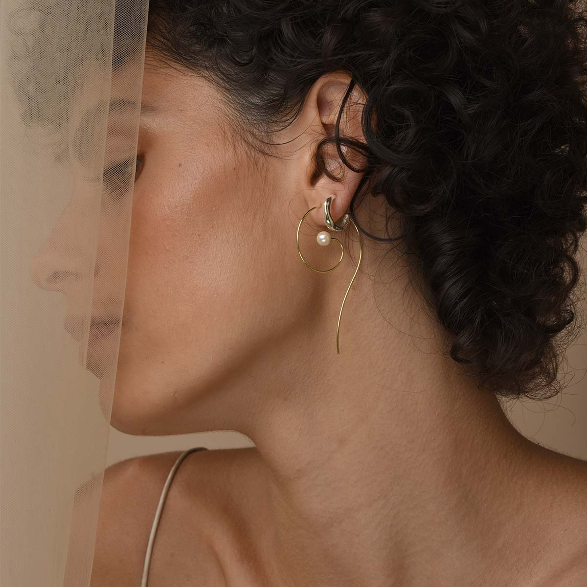 Everyday Small Baroque Hoops - Sterling Silver