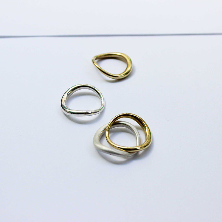 Tide Ring - Solid Gold